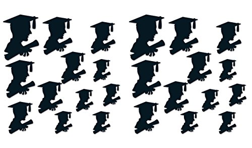 Beistle 54958 boy grad silhouettes, Black
