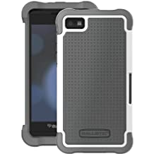 Ballistic SG1097-M185-SG Case for BlackBerry Z10-1 Pack-Retail Packaging-Charcoal/White (Discontinued by Manufacturer)