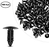 GOOACC Nylon Bumper Fastener Rivet Clips Fender& Bumper Shield Retainer GM, Ford & Chrysler 7mm Hole Retainer Auto Body Clips - 100PCS