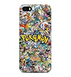 All Pokemons Logo Collage Kanto Pokemon Hard Plastic Snap-On Case Skin Cover For iPhone 5 / iPhone 5s