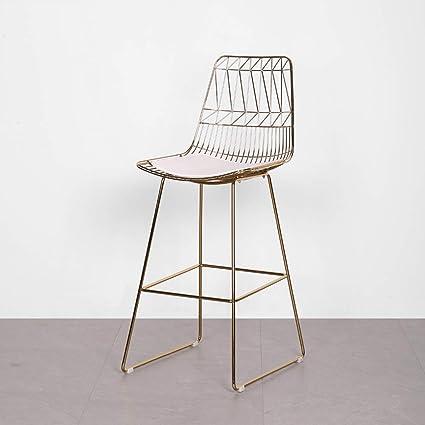 Amazon.com: XINGPING-Furniture Silla de respaldo de hierro ...