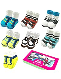 6 Pairs 0-6 month Baby Newborn Ankle Sock Infant Cotton Crew Bootie Socks