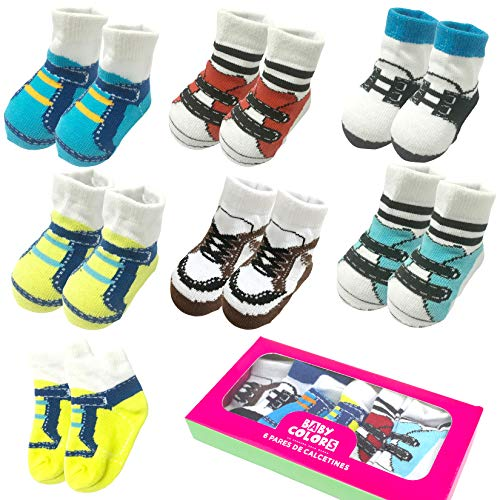 6 Pairs 0-10 month Baby Newborn Ankle Sock Toddler Crew Walkers Bootie Infant Socks (Mixed style 2) by Fly-Love (Image #10)