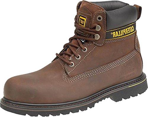 New para hombre Caterpillar Holton S3 respaldo de seguridad para hombre reloj para hombre de encaje-up zapatos de Flex funda de piel marrón - marrón