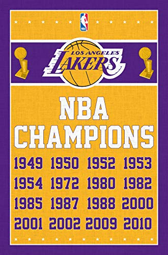 Los Angeles Lakers-Champions 13 Clip Bundle Wall Poster, 22.375