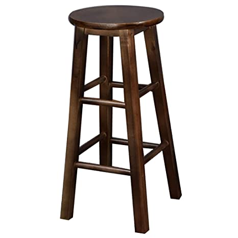 Wooden Retro Dining Chair rmchair Breakfast Chair Kitchen Stool with Padded Seat