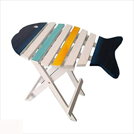 Amazon.com: Mesa plegable de madera maciza con forma de pez ...