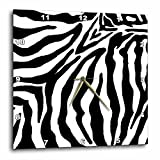 3dRose LLC Black and White Zebra Print Iittle 10 by 10-Inch Wall Clock Review