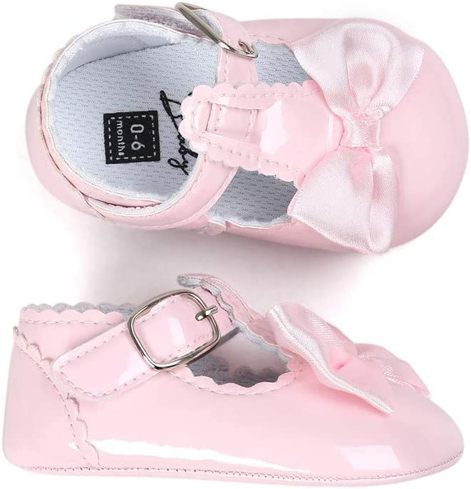 Sinwasd Sandals Baby Bowknot Princess Girls Shoes Anti-Slip Soft Sole Shoes Toddler Sneakers Casual Shoes Khaki,0-6 Month