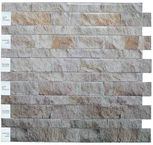 Crystiles Peel and Stick DIY Backsplash Tile Stick-on Vinyl Wall Tile, Weathered Slate, Matte Finish, Item #91010862M, 10