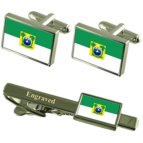 Rio Grande do Norte Flag manchette Cravate gravé Coffret Correspondance