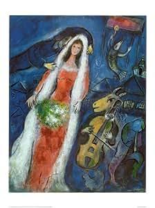 La Mariee Art Poster Print by Marc Chagall, 24x32