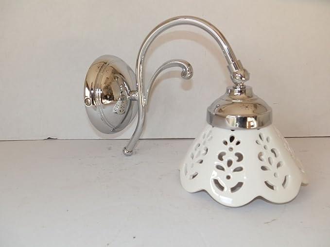 Applique in ottone cromato da parete bagno ingresso salotto casa