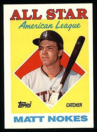 Amazoncom 1988 Topps 393 All Star Matt Nokes Detroit