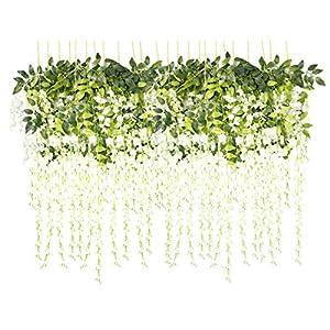 VentoMarea Wisteria Vine Ratta Artificial Flowers for Wedding Decor Romantic Silk Flowers 7