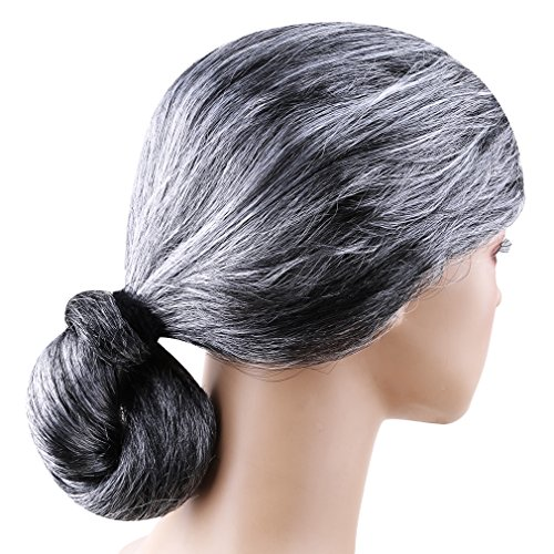 Meolin Old Lady Grandma Granny Grey Wig Fancy Dress (Costume Made From Household Items)