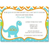 Baby Shower Invitations, Dinosaur Baby, Boy, It'a A...