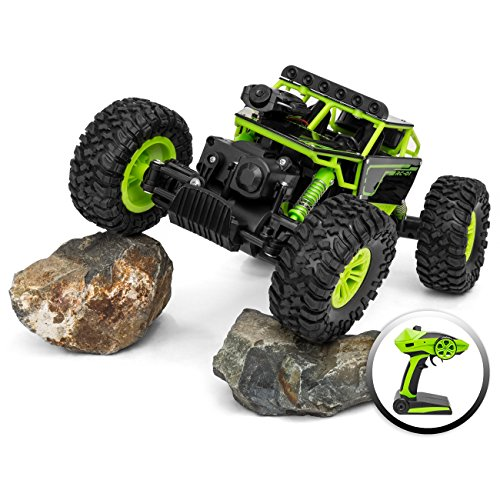 Kids 1/18 All Terain 4WD Remote Control FPV Real-Time Video Truck w/ Built-in Camera - Green ()