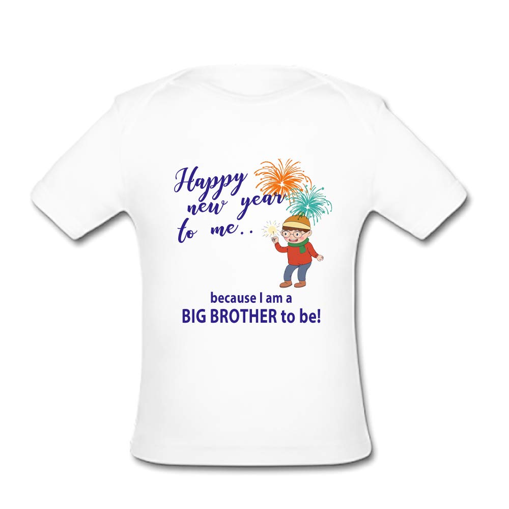 BrowneOLp Infant Tee Happy New Year to Me Baby Organic Short Sleeve T-Shirt