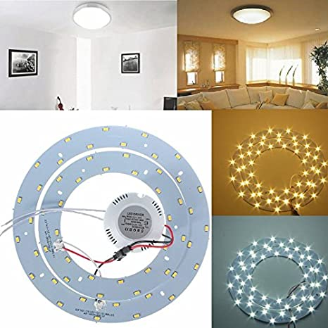 Bazaar 27w SMD 5730 LED círculos dobles panel de techo ...