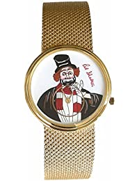 "Red Skelton ""Freddie the Freeloader"" limited edition 14k gold unisex size watch"