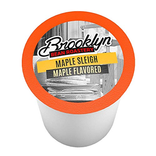 Brooklyn Beans Maple Flavored Coffee Pods, Compatible with 2.0 K-Cup Brewers, Maple Sleigh, 24 Count