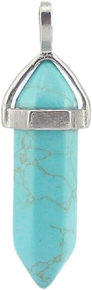 Aituo Magnífico colgante para hacer collares, de cristal de cuarzo con piedras curativas para chakras, en cristal, amatista, rosa
