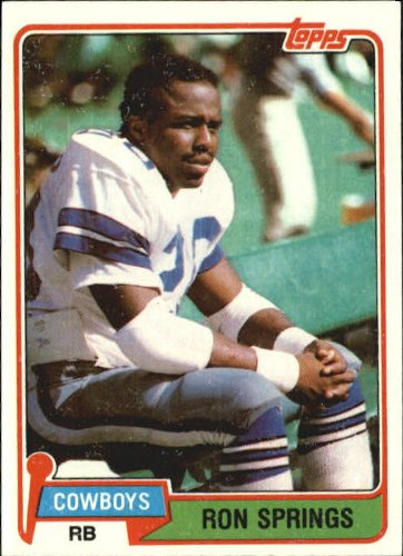 1981 Topps Football Rookie Card #433 Ron Springs