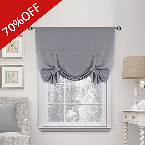 H.Versailtex Premier Thermal Insulated Blackout Curtain Tie Up Window Shade (Rod Pocket Panel) - 42