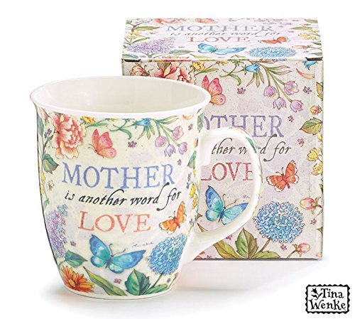 Mug Mother Is Another Word For Love Imprint Multi Color Flowers ()