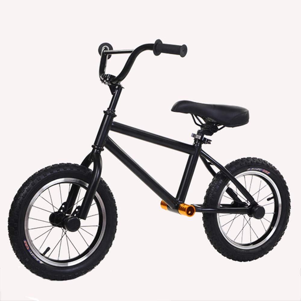 T-XYD Niños de la Bici sin Pedal de 14 Pulgadas por 3-6 años (Altura de 88-120 cm) El Marco Ligero de Acero de Alto Carbono con Fuerte Capacidad de Carga