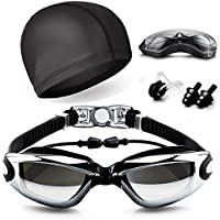 Swim Goggles, Hurdilen Swimming Goggles Anti-Fog UV...