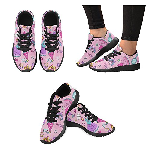 Athletic Pattern Lightweight 6 Size Princess InterestPrint Running Women's Fairytale 15 Shoes Sneakers US Casual Zx86qE