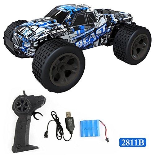 E-SCENERY 1:20 2.4Ghz 4WD RC Truck, High Speed Off-road Remote Control Car Short Course RTR Racing Truck With Rechargeable Battery (D)