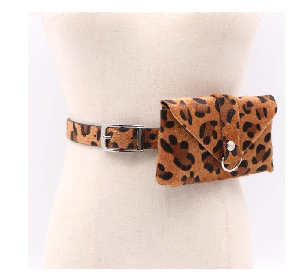 Womens Fashion Wild Leopard Belt Removable Waist Bag Phone Bag