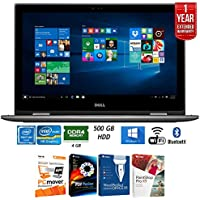 Dell 13.3 4GB RAM 500GB HDD RAM 2-in1 Laptop (i5378-P154GRY) + Elite Suite 17 Standard Software Bundle (Corel WordPerfect, PC Mover, PDF Fusion, X9) + 1 Year Extended Warranty