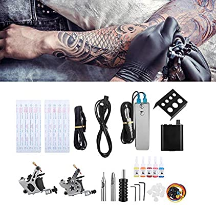 Maquina de tatuar kit completo, máquina de tatuaje de tatuaje de alfiler de alto grado Digital, kit maquinas tatuar, Principiante Completa Kit de Tatuaje, maquina de tatuar: Amazon.es: Belleza