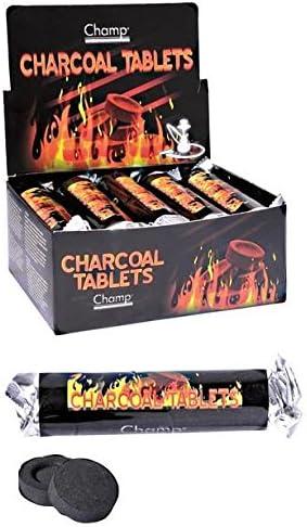 charbon pour chicha 10 rouleaux de 10 pastilles