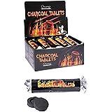 Chicha NARGUILE Paquet de Charbon pour Nargile Shisha Contenant 10 Rouleaux de 10 Pastilles Noir