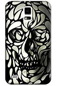 Sangu Black Skull Hard Back Shell Case / Cover for Samsung Galaxy S5