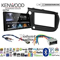 Volunteer Audio Kenwood DMX7704S Double Din Radio Install Kit with Apple CarPlay Android Auto Bluetooth Fits 2009-2011 Honda Pilot