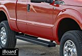 "iBoard Running Boards 5"" Black Custom Fit 1999-2016 Ford F250 / F350 Super Duty Super Cab (Nerf Bars | Side Steps | Side Bars)"