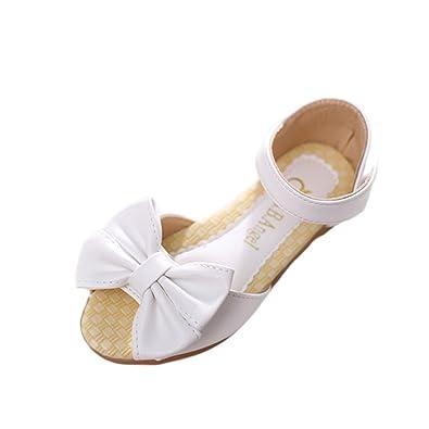 sports shoes lowest price affordable price YYF Enfant Fille Sandale Plat Confortable avec Noeud à Deux ...