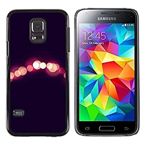 Luces Night City Negro Peach borrosa- Metal de aluminio y de plástico duro Caja del teléfono - Negro - Samsung Galaxy S5 Mini (Not S5), SM-G800