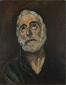 The Best Wall Art Artwork Is This Replica Art Print, Size 30*30cm/12*12inch, Named After El Greco - Saint Peter,perhaps Early 17th Century, Made Of Linen Canvas.