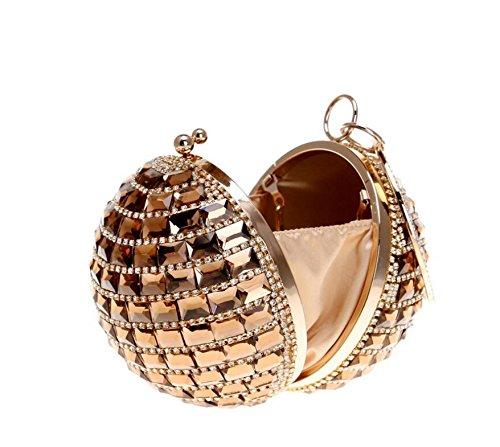 Sac Mini Mariage Sac élégant Banquet avec à dos Soirée avec Bal et Bal diamants Pochette Femme Gold soirée à pour Main de Chaîne Soirée H4wSqnR