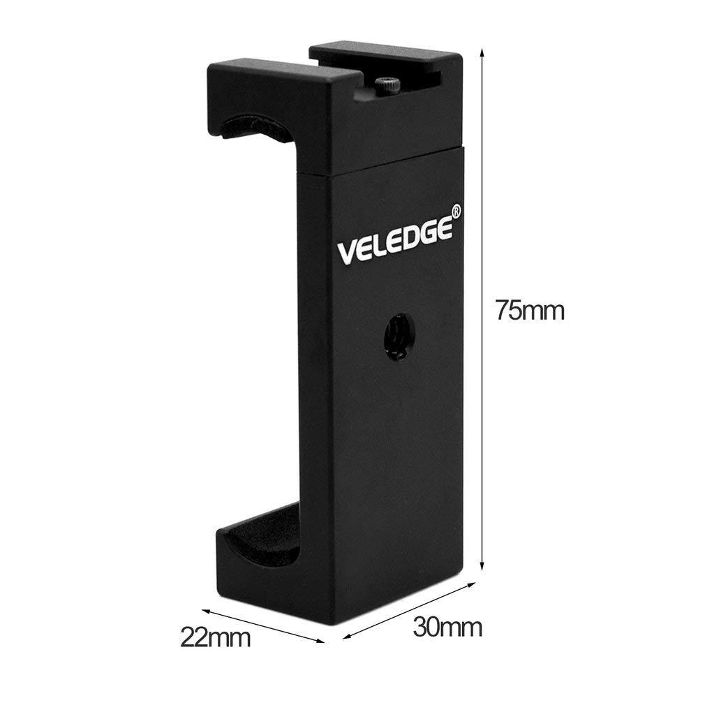 guoxuEE Soporte para trípode Selfie con Adaptador para Sujetador de Clip para Smartphone de Montaje en Zapata Caliente, Negro: Amazon.es: Hogar
