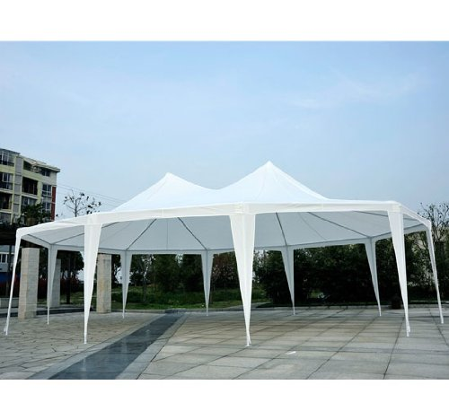 29 X 20 Large Heavy Duty Decagon 10 Wall Party Wedding Canopy Gazebo Tent