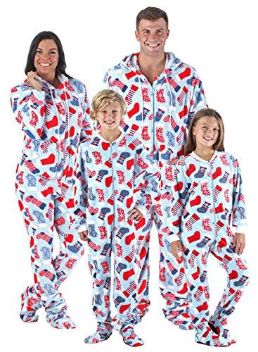 SleepytimePjs Family Matching Sleepwear Stockings Onesie Footed Pajamas PJs  Sets 689e9e3c2