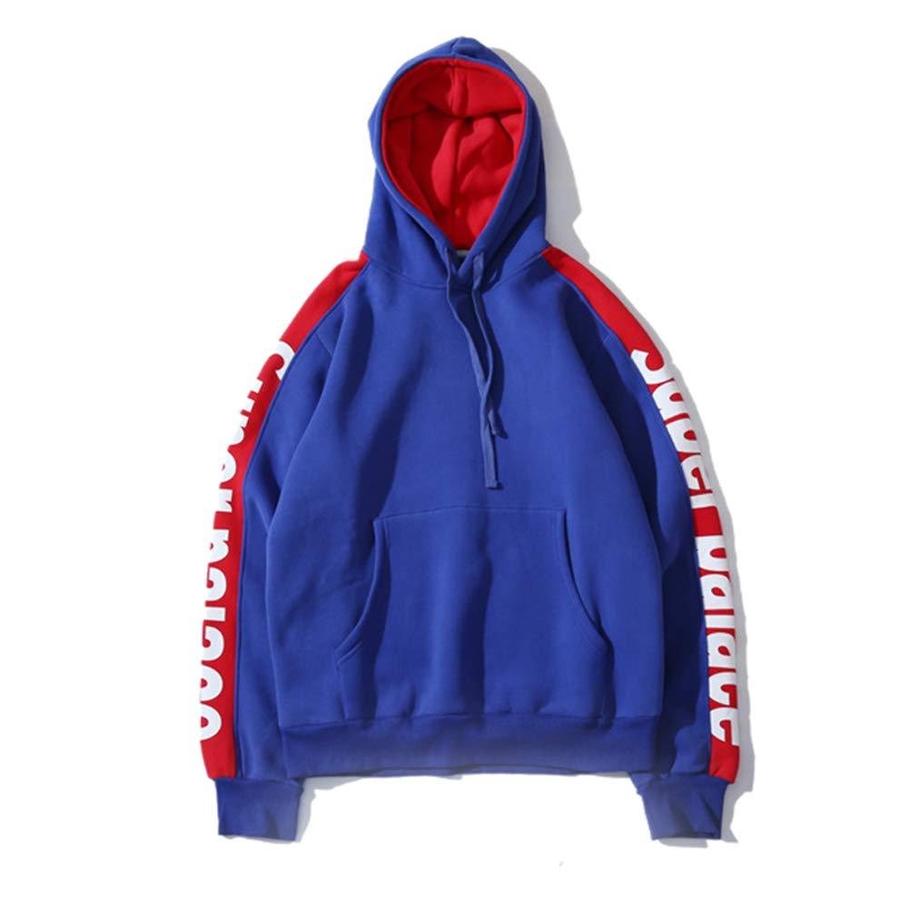 Imzoeyff Unisex Hoodie Kapuzenpulli Rollkragenpullover, Mode Lässig Splicing Kontrast Kapuzenpullover Englisch Herren Sweatshirt